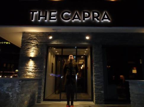 Our amazing hotel - Nigel posing