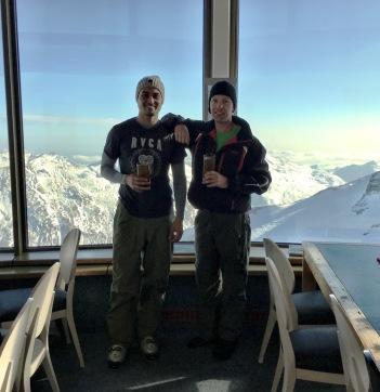 The pro skiiers