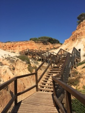 The stairs to the beach
